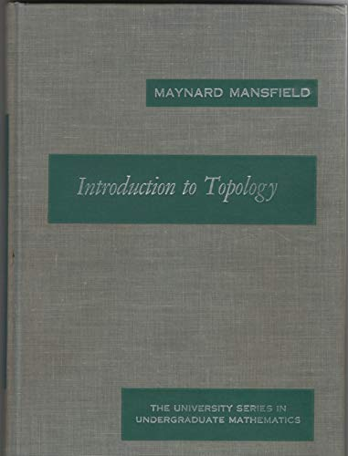 9780882750422: Introduction to Topology
