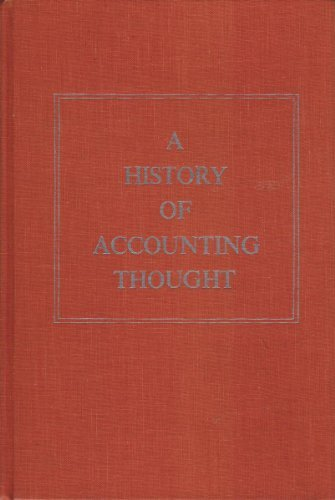 9780882754697: A History of Accounting Thought
