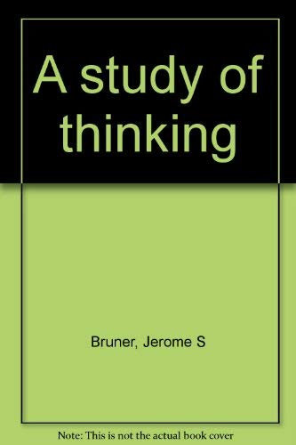 9780882754956: A study of thinking