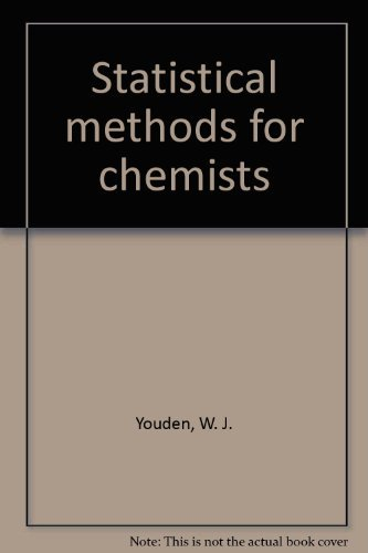9780882755090: Statistical methods for chemists