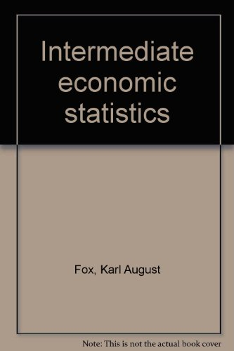 9780882755212: Intermediate economic statistics