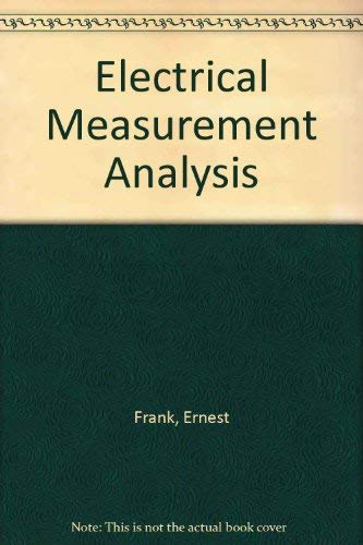 9780882755540: Electrical Measurement Analysis