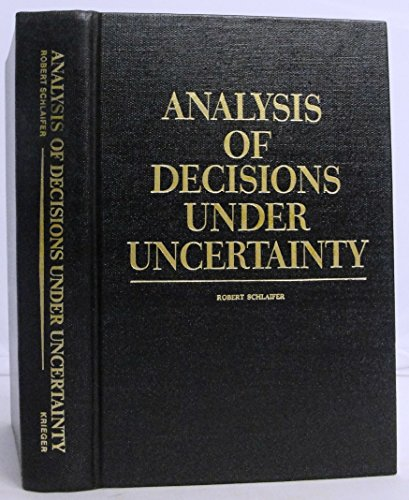 9780882755601: Analysis of Decisions Under Uncertainty