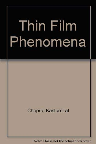 9780882757469: Thin Film Phenomena