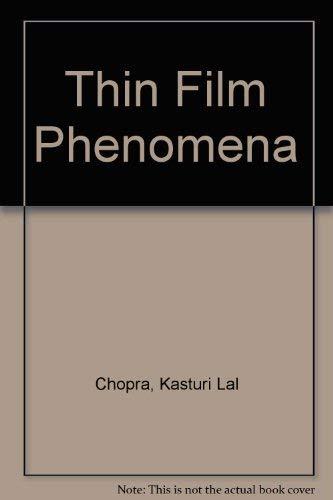 9780882757469: Thin Film Phenomena