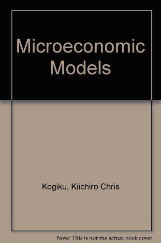 9780882757810: Microeconomic Models