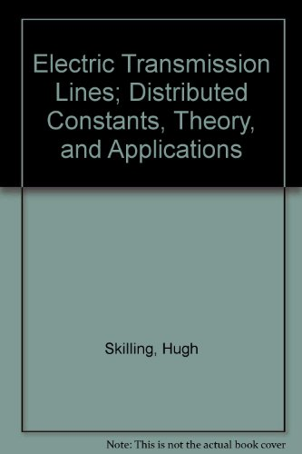 9780882757926: Electric Transmission Lines; Distributed Constants, Theory, and Applications