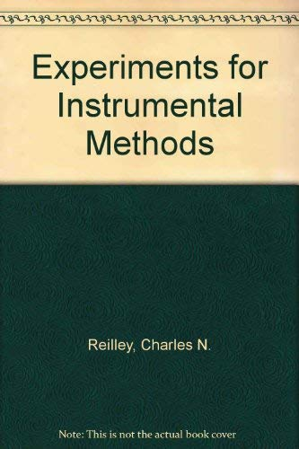 9780882758169: Experiments for Instrumental Methods