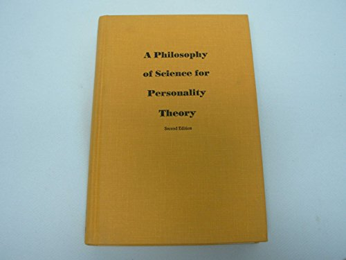9780882758893: Philosophy of Science for Personality Theory