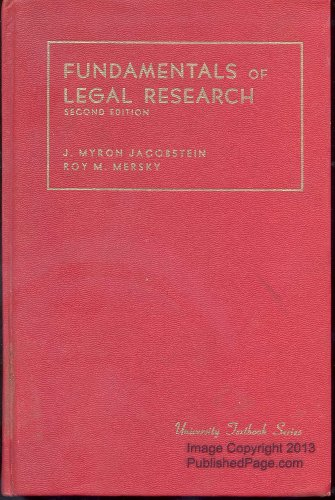 9780882770345: Fundamentals of legal research (University textbook series)