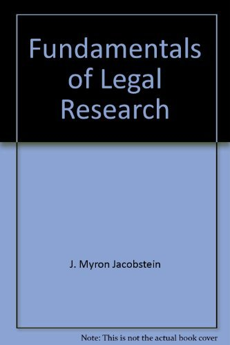 9780882772455: Fundamentals of Legal Research