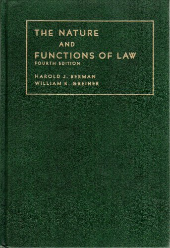 9780882774954: The Nature and Functions of Law. Fourth Edition