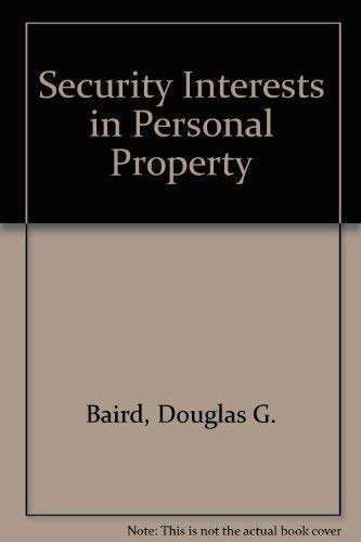 9780882775494: Security Interests in Personal Property (University casebook series)