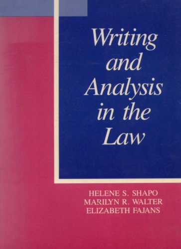 9780882777092: Writing and Analysis in the Law