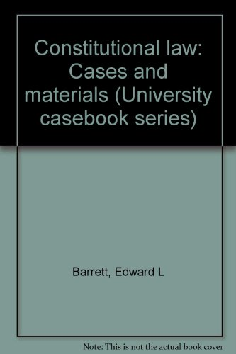 9780882777115: Constitutional law: Cases and materials (University casebook series)