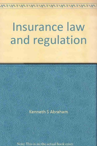 9780882777917: Insurance law and regulation: Cases and materials (University casebook series)