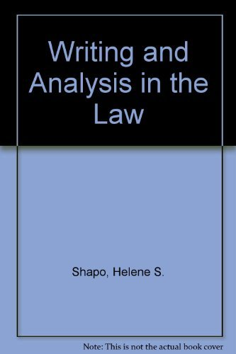9780882778747: Writing and Analysis in the Law