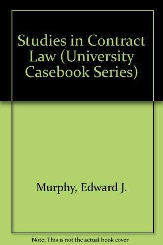 9780882778754: Studies in Contract Law (University Casebook Series)