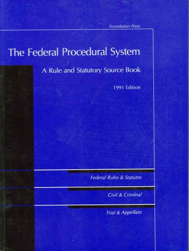 9780882778921: The Federal Procedural System (University Casebook Series)