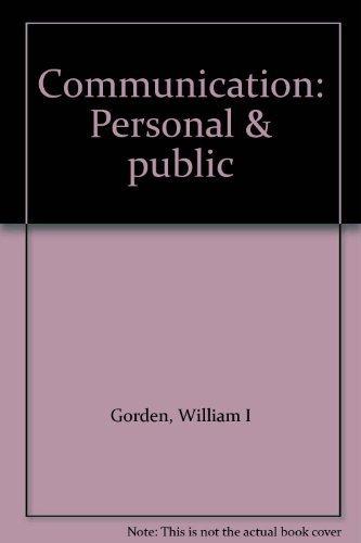 Communication: Personal public