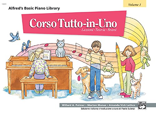 9780882847696: Alfred's Basic Piano Library All-in-one Course, Book 1: Italian Edition