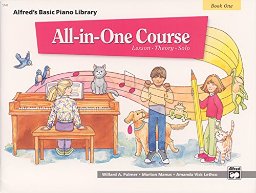 9780882847870: All-in-One Course for Children: Lesson, Theory, Solo, Book 1 (Alfred's Basic Piano Library)