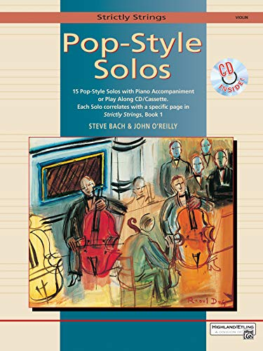 9780882848037: Strictly Strings Pop-Style Solos: Violin, Book & CD