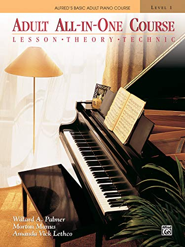 9780882848181: Alfred's Basic Adult All-In-One Piano Course: Level 1: Lesson, Theory, Technique (Abpl)