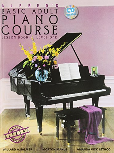 9780882848327: Alfred's Basic Adult Piano Course Lesson Book, Bk 1: Book & CD