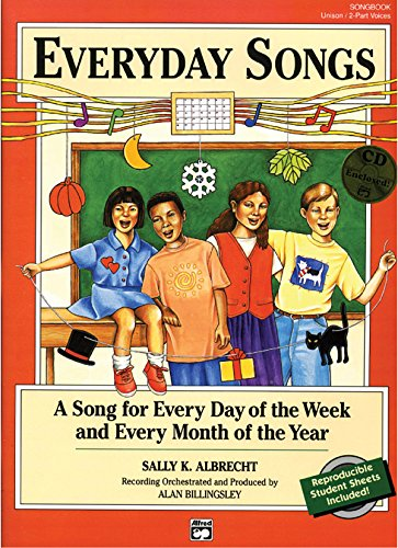 9780882848372: Everyday Songs: A Song for Every Day of the Week and Every Month of the Year (20 Songs) (Songbook), Book & CD