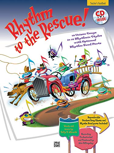 9780882848402: Rhythm to the Rescue!: 10 Unison Songs in 10 Different Rhythmic Styles, Book & CD