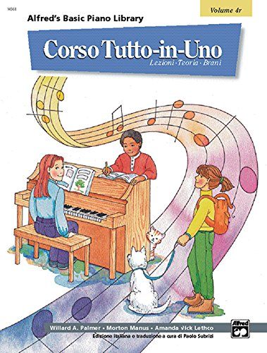 9780882848662: Alfred's Basic All-in-One Course, Bk 4: Italian Language Edition (Alfred's Basic Piano Library) (Italian Edition)
