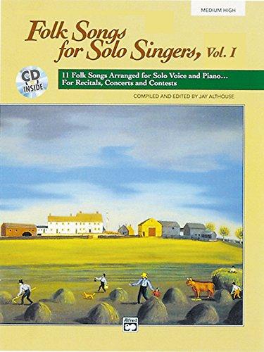 9780882848747: Folk Songs for Solo Singers, Vol. 1 (Medium High) (Book & CD)