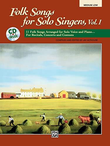 9780882848778: Folk Songs for Solo Singers: Medium Low (Paperback Book & CD)