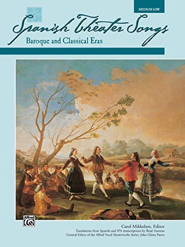 9780882848792: Spanish Theater Songs -- Baroque and Classical Eras: Medium Low Voice