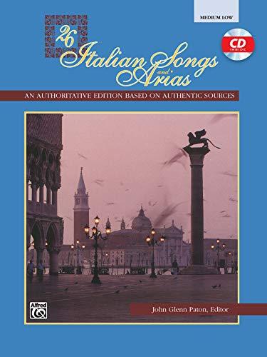 9780882849362: 26 Italian Songs and Arias: Medium Low Voice (Book & CD)