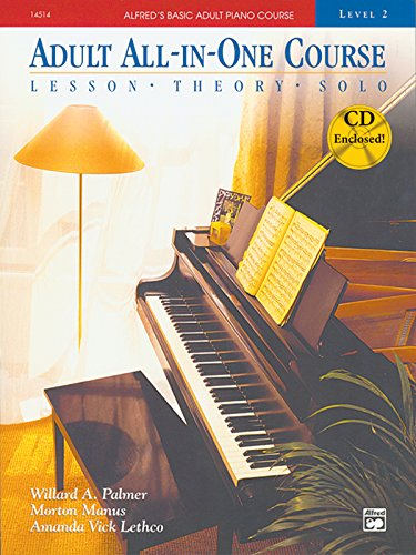 9780882849942: Alfred's Basic Adult Piano Course, All-In-One, Level 2 w/CD [STUDENT EDITION]