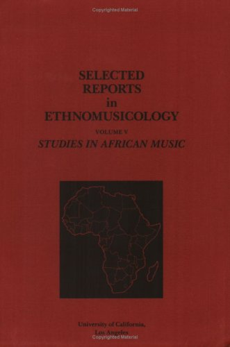 9780882870175: Selected Reports in Ethnomusicology, Vol. 5: Studies in African Music, with cassette