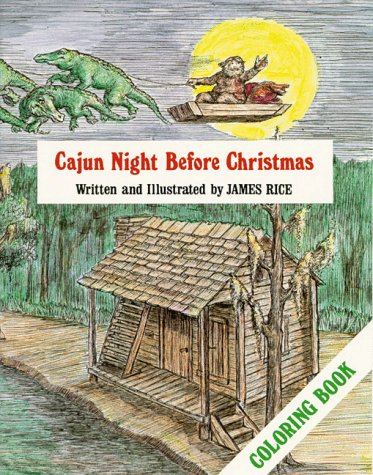 [signed] Cajun Night Before Christmas Coloring Book