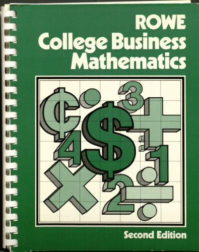 9780882946603: Rowe College Business Mathematics