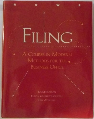 Filing: A course in modern methods for: Cogswell, Evelyn Gilchrist