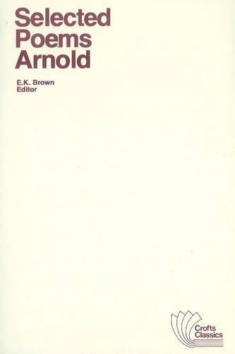 9780882950075: Selected Poems (Crofts Classics)