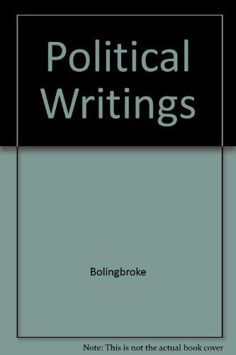 Political Writings: Bolingbroke, L.