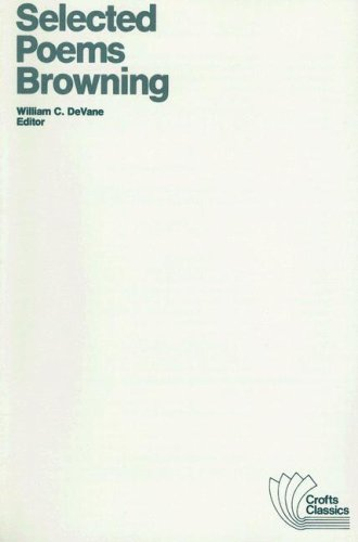 9780882950198: Selected Poems of Robert Browning