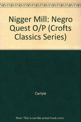 9780882950211: Nigger Question (Crofts Classics Series)