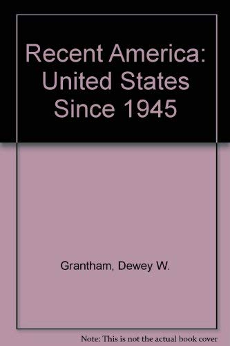 9780882958415: Recent America the United States Since