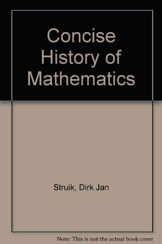 9780883076156: Concise History of Mathematics