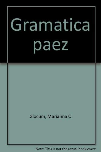 9780883122327: Gramática páez (Spanish Edition)
