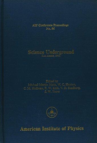 9780883181959: Science Underground