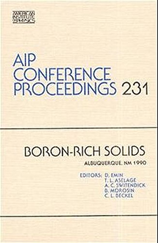 Boron-Rich Solids (AIP Conference Proceedings): A.C. Switendick, T.L. Aselage